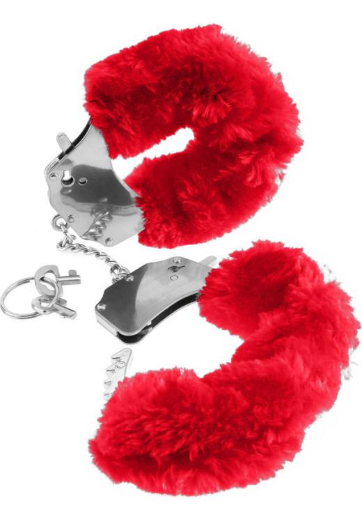 Χειροπέδες Με Γουνάκι Furry Cuffs Red από την Κατηγορία Χειροπέδες, BDSM Toys