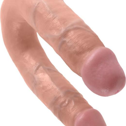 Διπλό Ομοίωμα Πέους U-Shaped Medium Double Trouble Flesh 34,6cm από την Κατηγορία Sex Toys, Διπλά Ομοιώματα Πέους